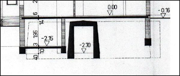 Luftschutz im zweiten Weltkrieg: Vom Wohnhaus überbaute Bunker / Luftschutzanlage