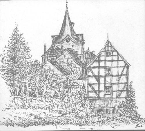 """Zeichnung von Georg Grabenhorst uf dem Titelblatt des Buches """"Abenteuer der Jugend"""""""