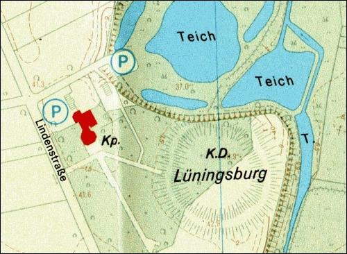 Auszug aus dem Stadtplan der Stadt Neustadt a. Rbge. 1987