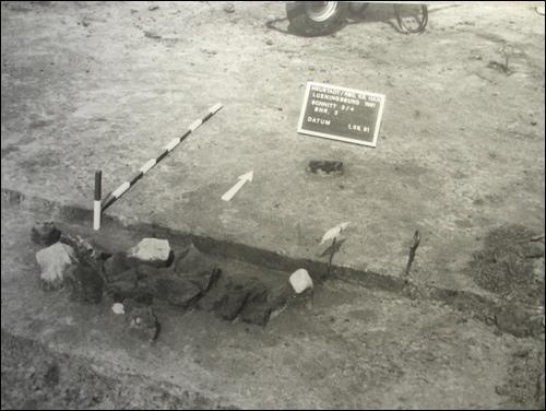 Foto aus der Ausgrabung 1981/82