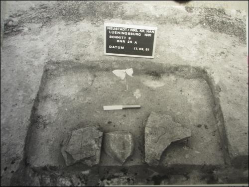 Ausgrabungsdetail der Ausgrabung 1981/82