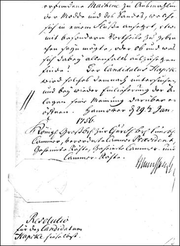 Antrag von 1756