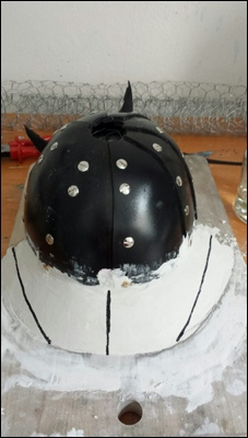 Plaster bedding for the visor