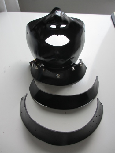 Two throat guard plates