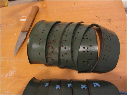 The plates are cut and bent. The holes are drilled and the follow the traditional drill patterns.