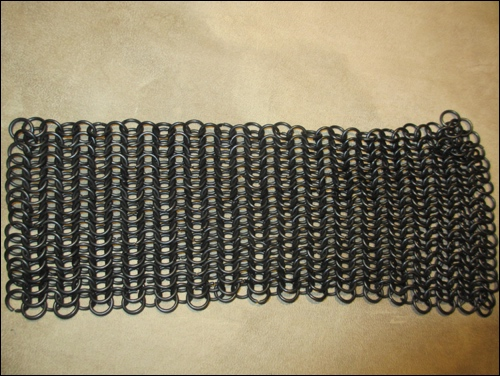 I could not produce chain mail by myself, so I purchased it, online. You will find it easily, online, as long as you do not insist in hand made and properly hand-forged chain mail.