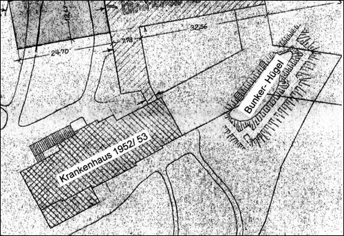 Lageplan des Luftschutzbunkers am Neustädter Krankenhaus.