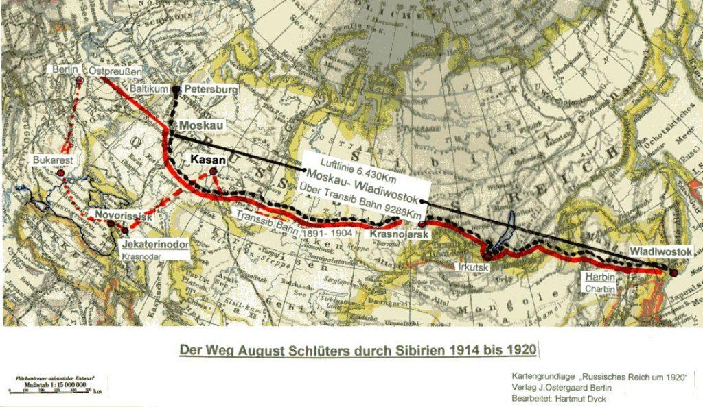 Reise des Kriegsgefangenen Neustädters durch Russland 1920-25