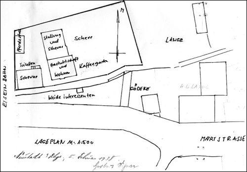 ARH NRÜ II 1440, Nachgezeichnet H. Dyck Anlage zum Konzessionsantrag von 1938