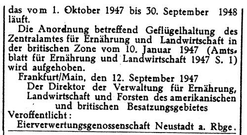 Amtsblatt vom 25 Januar 1948