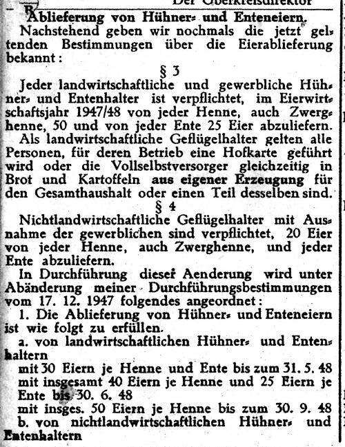 Verordnung vom 31.Mai 1948