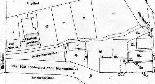 Ausschnitt aus Gemarkungsplan um 1880