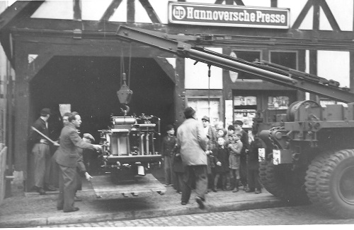 Die Druckerpresse des Verlages zieht in die Martkstraße um (Foto: Hergt)
