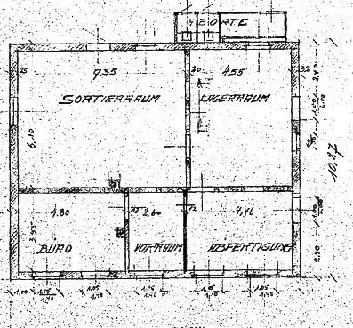 Grundriss nach dem Umbau 1938