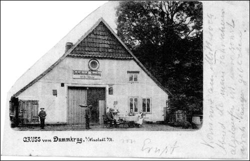PostkartederGaststätte August Tegtmeyer / Dammkrug. Diese Postkarte ist übrigens im Jahre 1901 im Verkehr gewesen!