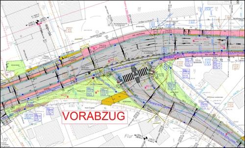 Entwurf Straßenbauamt Nienburg:So könnte die neue Kreuzung ab 2017 aussehen(Vorabzug SBA)