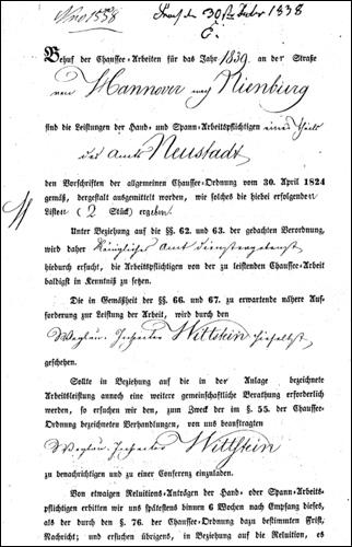 Erlass 18 38/39 (Quelle:Museum zur Stadtgeschichte)