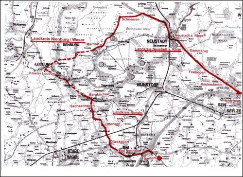 Reiseweg des Kaisers am 20. Juni 1913 (Planskizze Dyck)