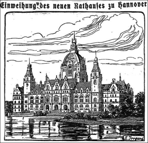 In Hannover wird die Einweihung des Neuen Rathauses gefeiert