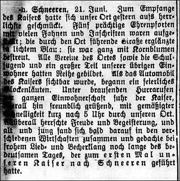 Leinezeitung vom21.Juni 1913