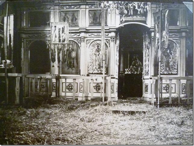 Beobachtungskirche in Bel.Porsk Juli August 1916 abgebrannt im August 1916