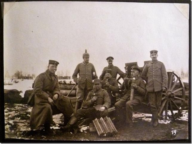 Feuerstellung. Artillerie im ersten Weltkrieg.