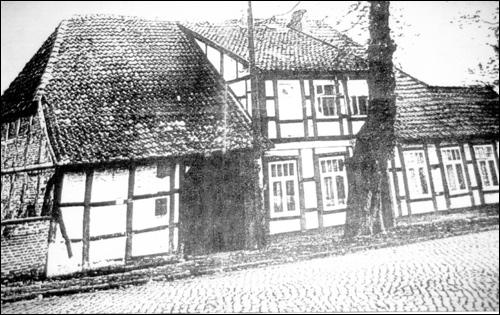 Historisches Foto des Hauses Zwischen den Brücken 1 in Neustadt am Rübenberge