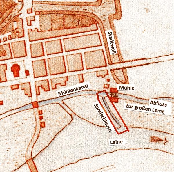 Nds HStA Hannover 12f Neustadt 7 pm: Plan der Stadt Neustadt von 1764
