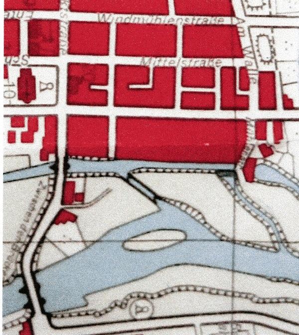 Ausschnitt aus dem Stadtplan Neustadts von 1951