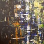 Set. Acryl auf Leinwand. Christian Dyck