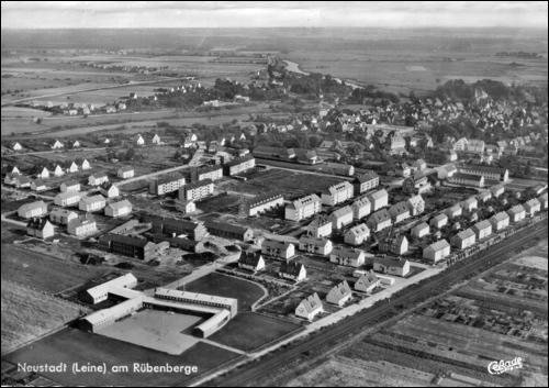 Postkarte: Luftbild der Baugebiete
