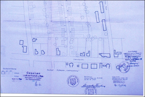 1955: Bebauungsplan Kleiner Tösel