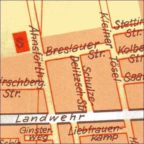 1974: Stadtplan Kleiner Tösel