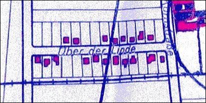 1951: Stadtplan Über der Linde