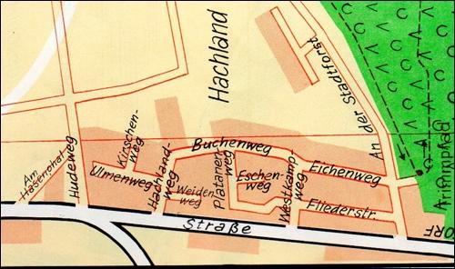 Im Hachland(Stadtplan 1974)