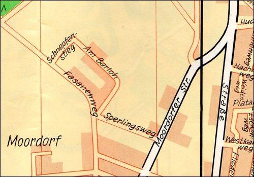 Am Barloh im Stadtplan von 1974