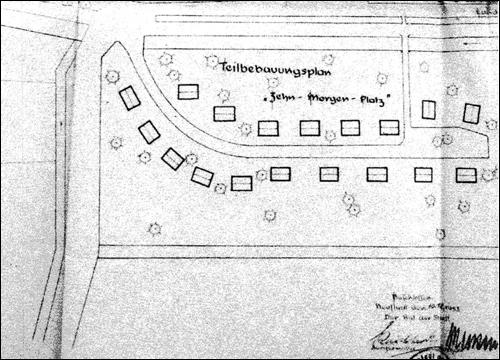 1949: Teilbebauungsplan Strobach Platz