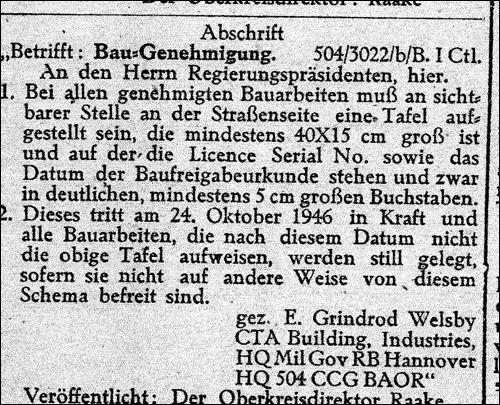 Amtsblatt 1946 Abschrift