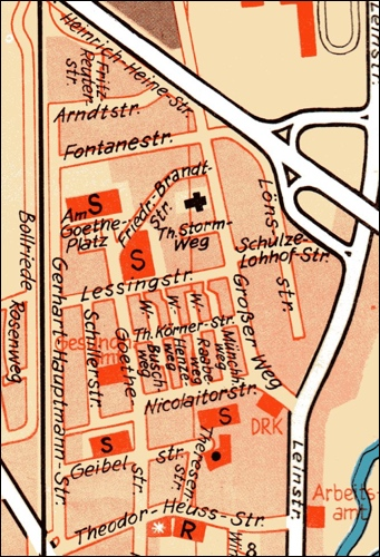 Stadtplan 1974 Klagesäcker