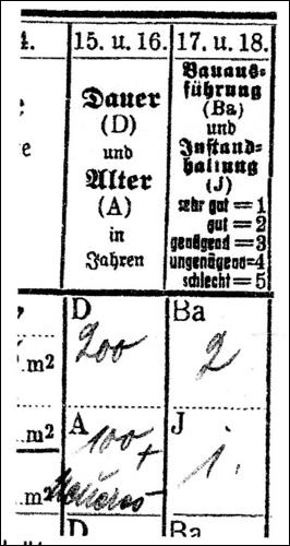 Ausschnitt Einschätzung 1939