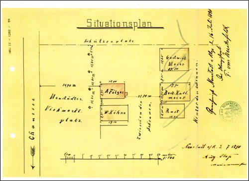 Schützenplatz No. 5, Fölger 1890.Später Seegers (ARH NRÜ II 1282)