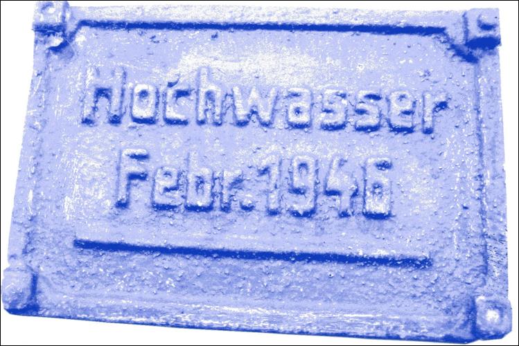 Hochwassermarke von 1946 (Foto Dyck 2019)