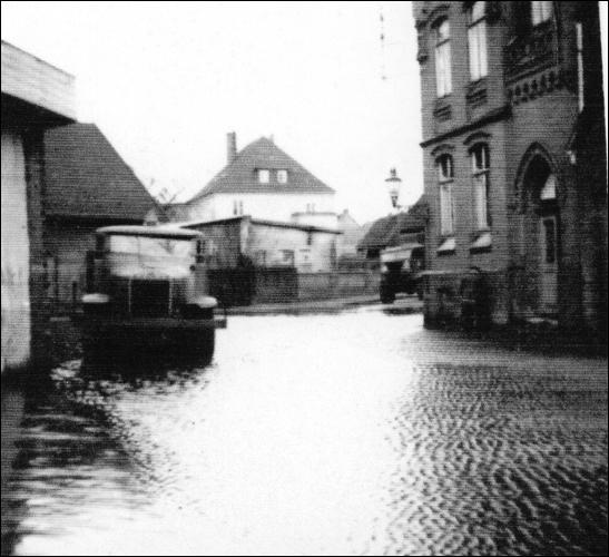 Überflutung im Rundeel 1946 (Foto: Bruns)