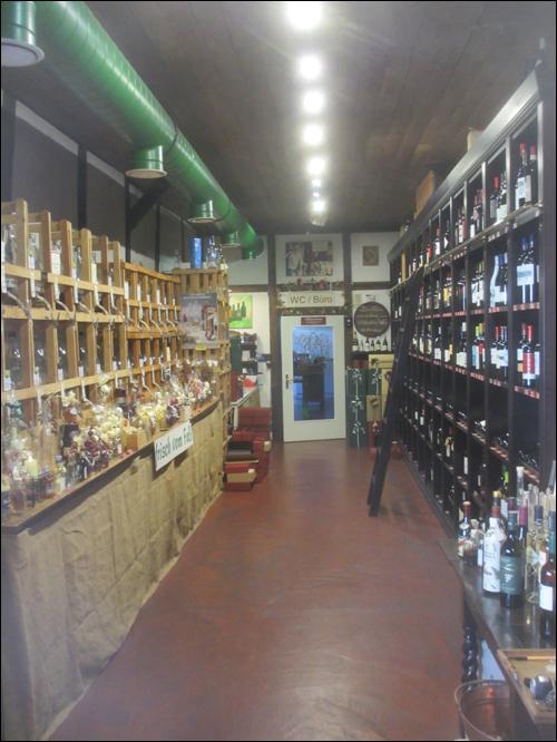 Die Weinscheune heute: Innenraum