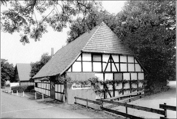 Die Weinscheune als Baudenkmal (Foto: Aus Baudenkmale in Niedersachsen, 2005)
