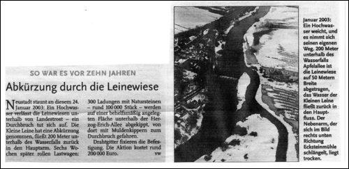Dirk von Werder in der Leinezeitung vom 9.4.2013