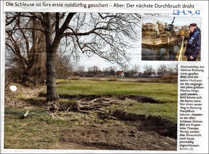 Der nächste Durchbruch droht. Neustadt am Rübenberge ist hochwassergefährdet.