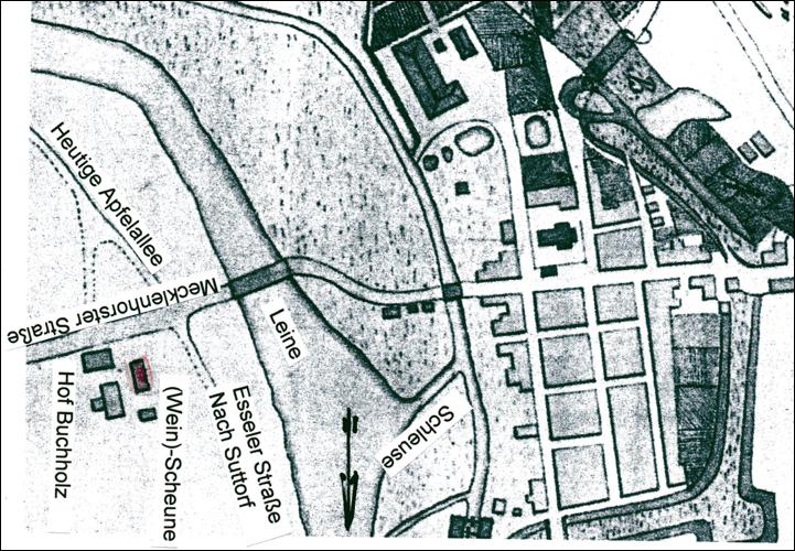 Plan der Stadt Neustadt von 1764 (Nds HStA Hannover, 12 f Neustadt 7 pm)