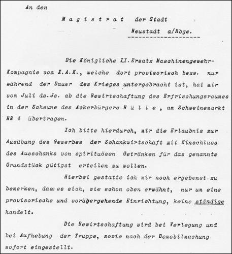 Schreiben An den Magistrat (ARH NRÜ KA 1434)