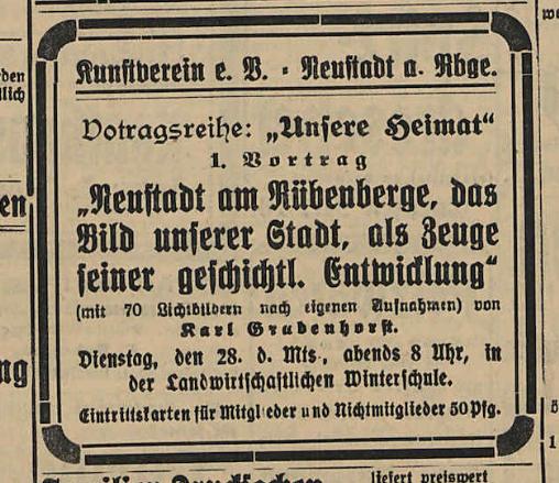 Neustadt am Rübenberge. Das Bild unserer Stadt als Zeuge seiner geschichtlichen Entwicklung.